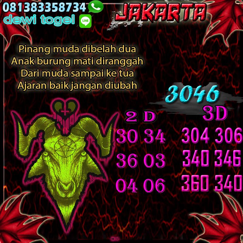 PREDIKSI JITU JAKARTA (JKT) 18 AGUSTUS 2020